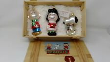 Peanuts Polonaise Blown Glass Kurt Adler Ornaments - Lucy, Charlie & Snoopy