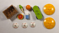 Lego Brand Sports Food Lot Crate Deco Dishes Skateboard Soccer Ball Pizza Milk