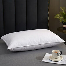 Down Pillow 600 Fill Power 100% Cotton Queen 20x28inches 15/85 down/feather