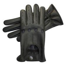 Gants noirs en cuir pour motocyclette
