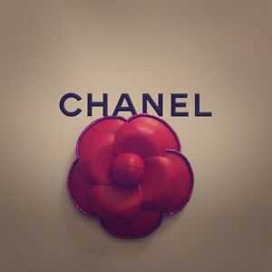 Chanel Authentic Camellia Red Flower Paper Brooch VIP Gift