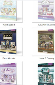 Hunkydory Deluxe Craft Pad - Deco, Horse, Lilac,Teal, Acorn Wood Artist's Garden