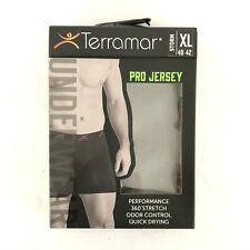 Terramar Mens Underwear Boxer Brief Pro Jersey Stretch Gray Odor Control Size XL