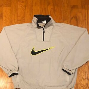 Mint Condition Vintage Nike White Tag Quarter Zip Pullover Windbreaker sz L