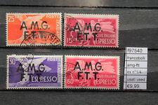 FRANCOBOLLI AMG-FTT EX N°1/4  USED (F97540)