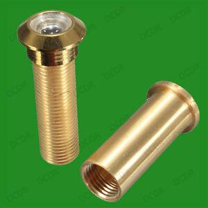 15mm Brass Security Door Viewer Spy Hole Peephole Adjustable 160 Degree