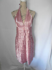 MEI MEI, SIZE 14, BNWT, DUSTY PINK, TIERED BANDAGE, BOBYCON, HALTER DRESS