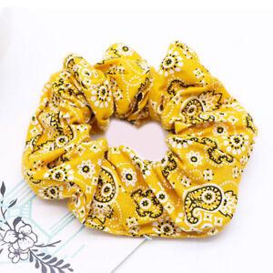 Fashion Cashew Flowers Bandana Elastic Hair Scrunchies Ponytail Holder Hair Ties