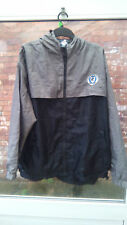 CHESTERFIELD FOOTBALL CLUB BLACK & GREY JACKET WITH HOOD SIZE XL VGC