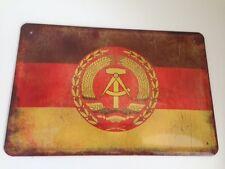 Blechschild Länder Fahne National Flagge DDR Deutsche Demokratische Republik 19