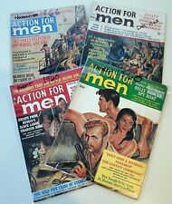 "4 VINTAGE, MAR,'60-SEPT,'60-DEC,'62-NOV,'66 ""ACTION FOR MEN"" SEE IND. PICS. [1]"