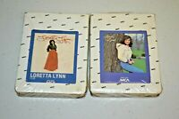 Loretta Lynn Lot of 2 MCA Records 8 Track Tape Cartridge I Lie Lookin Good NEW
