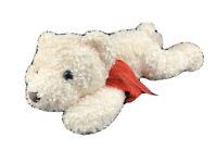 LARGE Dan Dee White Teddy Polar Bear Xmas Scarf Christmas Plush Stuffed Animal