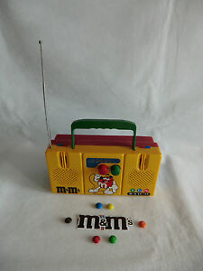 M&M M&M's FUN Radio  tragbar mit Lunchbox super super rar siehe Fotos