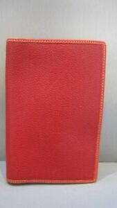 """Coach Red Pebbled Leather Passport Case Bag 7"""" x 4.5"""" Wallet Reduced"""