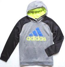 adidas Boy's Fusion Pullover, Black/Grey Heather, M (10/12)