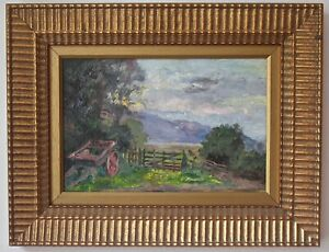 ENGLISH LANDSCAPE Lake District Original signed oil painting FRANCIS REILY 1858