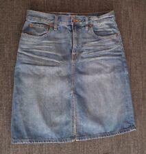Madewell Denim High Rise Pencil Front Slit Skirt Size 28 C3630