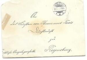 Brief des Fürst Schwarzburg-Rudolstadt v. 28.03.1901 an Fürst von Thurn und Taxi