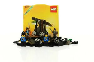 Lego Castle Black Falcons Set 6030 Catapult 100% complete + instructions 1984