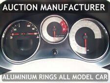 For Seat Leon II 1P 2005-2012 Chrome Gauge Trim Dial Rings Polished Alloy New x3