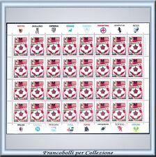 Milan campione Italia 1987-1988 Calcio Foglio completo