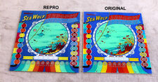 Williams 1959 SEA WOLF Pinball Machine Replacement BACKGLASS GREAT ART