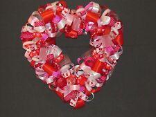 Valentines Heart Shaped Ribbon Wreath