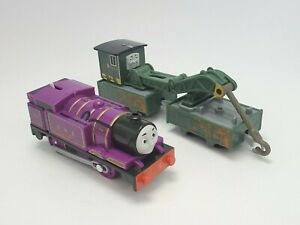 Thomas & Friends Trackmaster Ryan And Jerome Motorized Train Engine Crane Cargo