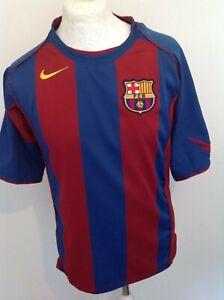BARCELONA FC  NIKE 2004 2005 HOME SHIRT MEDIUM