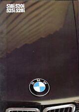 BMW 518i 520i 525i 528i Saloons E28 1985 UK market colour sales brochure