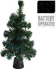 45cm Fibre Optic LED Christmas Tree Colour Changing Desk Tree Xmas Decoration