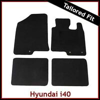 Hyundai i40 2011 onwards Tailored Fitted Carpet Car Floor Mats BLACK