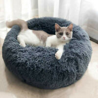 Dog Round Cat Winter Warm Sleeping Bag Long Plush Soft Pet Bed Calming Bed