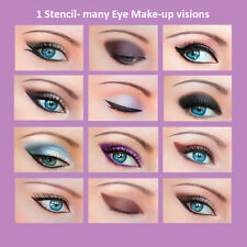 3 Set Quick Makeup Stencils+12 Eyeliner Stickies Eye Shadow Eyebrow ORIGINAL ES1