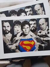 Impresión de alta calidad 450 Mm x 320 mm Christopher Reeve Superman artista firmado