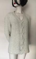 Marccain 80%Virgin Wool/20%Nylon,Ivory/Beige V-Neck Jumper,N4,UK14