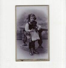 CDV Foto Niedliches kleines Mädchen in Tracht - Strassburg 1900er