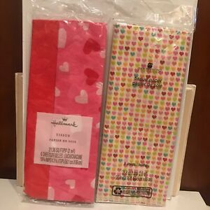 New Hallmark & American Greetings Gift Tissue Hearts Set Valentines Sweetest Day