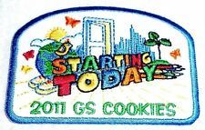 """""""Starting Today"""" 2011 GS COOKIES Girl Scout Cookie Sale Patch"""