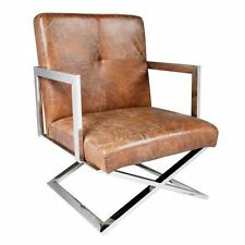 Chrome Leather Modern Chairs