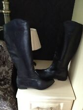 Unisa Black Leather Knee High Boots 41/8 Worn Once
