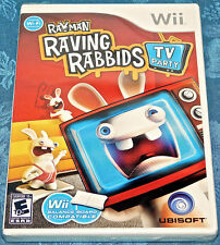 Rayman Raving Rabbids TV Party Nintendo Wii SYSTEM GAME SEALED NEW NES
