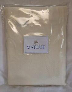 Matouk Shower Curtain Ivory Diamond Pique 72x72 Portugal New