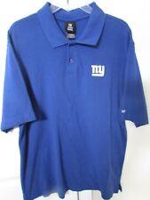 NFL New York Giants Blue Cotton Golf Polo Shirt Large by Reebok Team Apparel