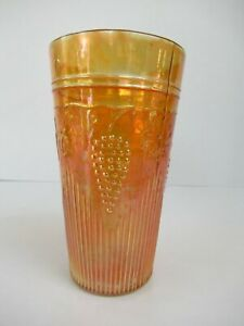 """Antique Jain Indian Carnival Glass Tumblers Grapevine And Spikes Variant """"F06"""