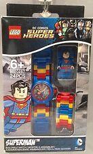 Lego DC Universe Super Heroes SUPERMAN Mini Figure Buildable Watch New!