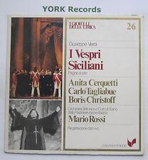GML 26 - VERDI - I Vespri Siciliani highlights CERQUETTE / ROSSI - Ex LP Record