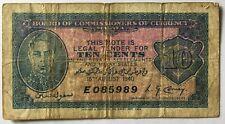 1940 Malaya 10 cents banknote E 085989  collectable grade