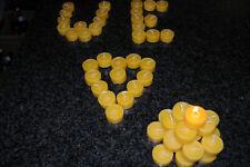 30 Teelichter aus 100% Bienenwachs ohne Hülle